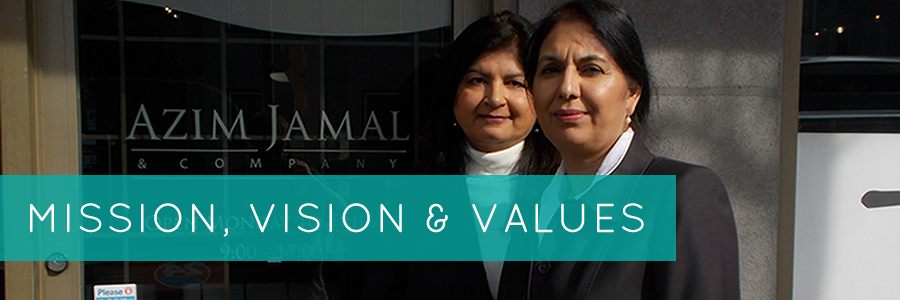 Azim Jamal & Company mission, vision and values